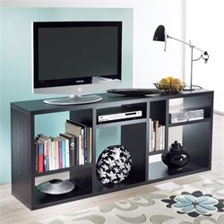 Bookcase TV Stand in Black Woodgrain