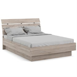 Platform Bed in Truffle