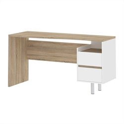 Tvilum Whitman Plus Walter Desk in Oakstructure and White