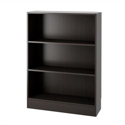 Short Wide 3 Shelf Bookcase in Coffee
