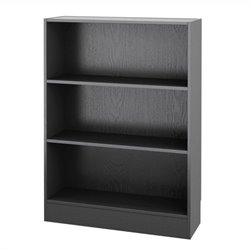 Tvilum Element Short Wide 3 Shelf Bookcase in Black Wood Grain