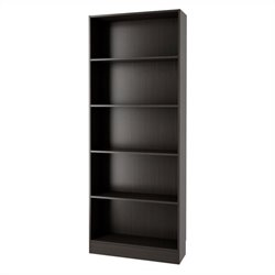 Tvilum Element Tall Wide 5 Shelf Bookcase in Coffee