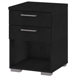 Tvilum Aria 2 Drawer Nightstand in Black Wood Grain