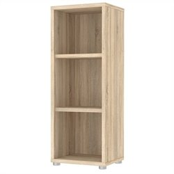Tvilum Structure 3 Shelf Narrow Bookcase in Oak Structure