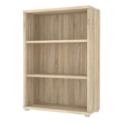 Tvilum Structure 3 Shelf Wide Bookcase in Oak Structure
