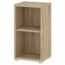 Tvilum Structure 2 Shelf Narrow Bookcase in Oak Structure