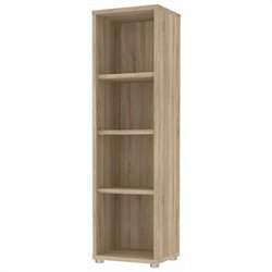 Tvilum Structure 4 Shelf Narrow Bookcase in Oak Structure
