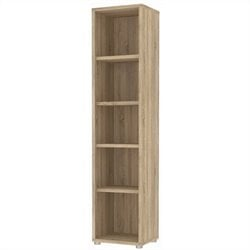 Tvilum Structure 5 Shelf Narrow Bookcase in Oak Structure
