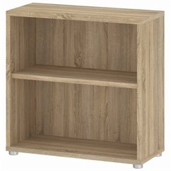 Tvilum Strucuture 2 Shelf Wide Bookcase in Oak Structure