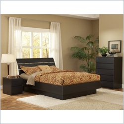 Tvilum Scottsdale 2PC Queen Platform Bed Set in Coffee