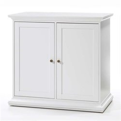 Tvilum Sonoma Double Door Cabinet with 2 Shelves in White