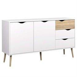 Tvilum Diana Sideboard with 2 Doors and 3 Drawers in White Oak