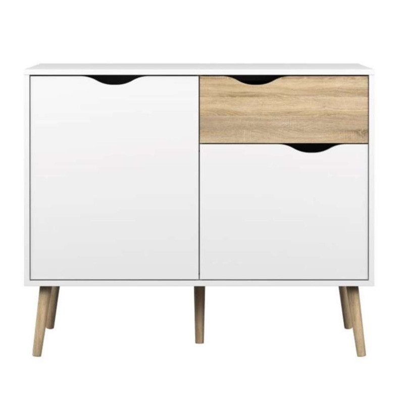 Tvilum Diana 2 Door Sideboard with 1 Drawer in White Oak