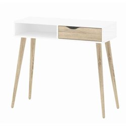 Tvilum Diana 1 Drawer Desk in White Oak