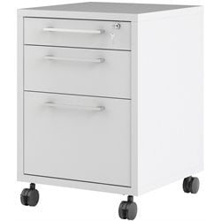 Tvilum Pierce 3 Drawer Mobile Filing Cabinet in White
