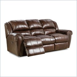 Lane Furniture Summerlin Power Double Reclining Sofa in Tri-Tone Brown