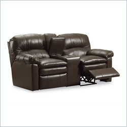 Lane Furniture Touchdown Double Reclining Console Sofa in Savage Cocoa
