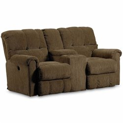 Lane Furniture Griffin Double Reclining Console Loveseat in Walnut