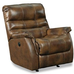 Lane Furniture Garrett Power Rocker Recliner in Saddle