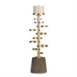 Uttermost Lostine Candle Holder in Gold
