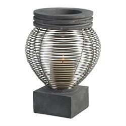 Uttermost Fausto Industrial Candle Holder in Charcoal