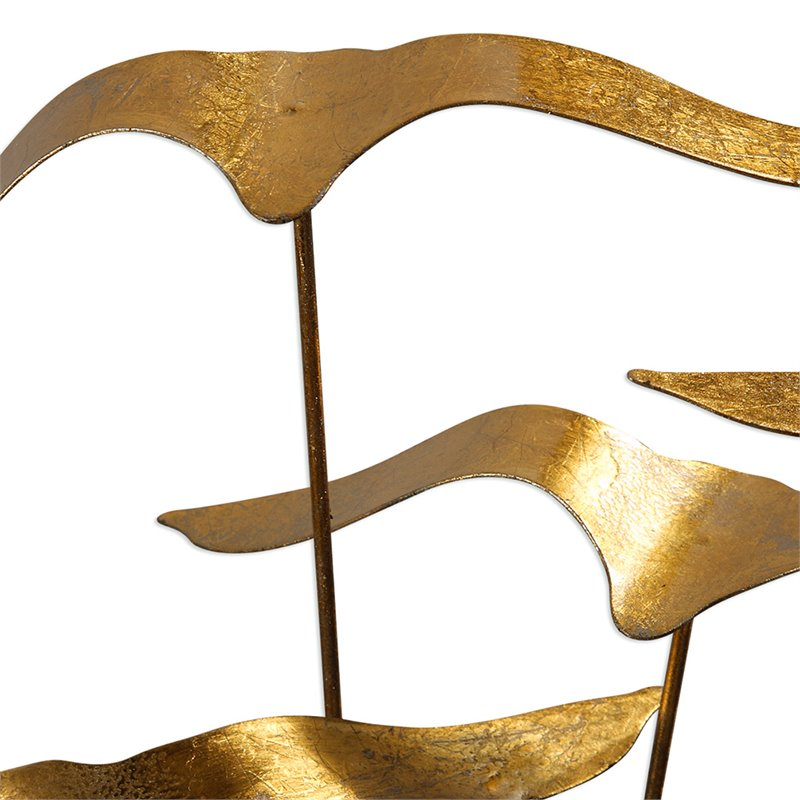 Uttermost Flock Of Seagulls Sculpture in Gold and Aged Black