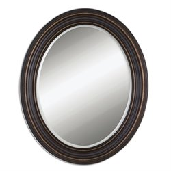 Uttermost Ovesca Oval Wall Mirror in Dark Oil Rubbed Bronze