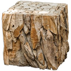 Uttermost Teak Root Bunching Cube in Teak Wood