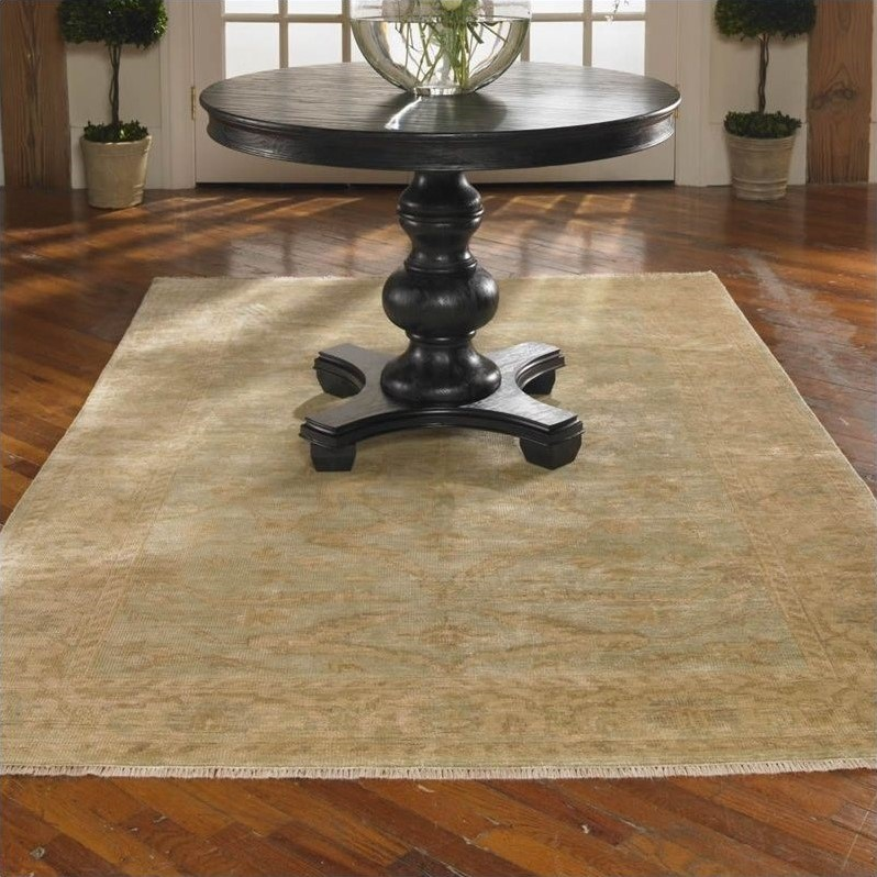 Anna Maria New Zealand Wool Rug in Weathered Ivory