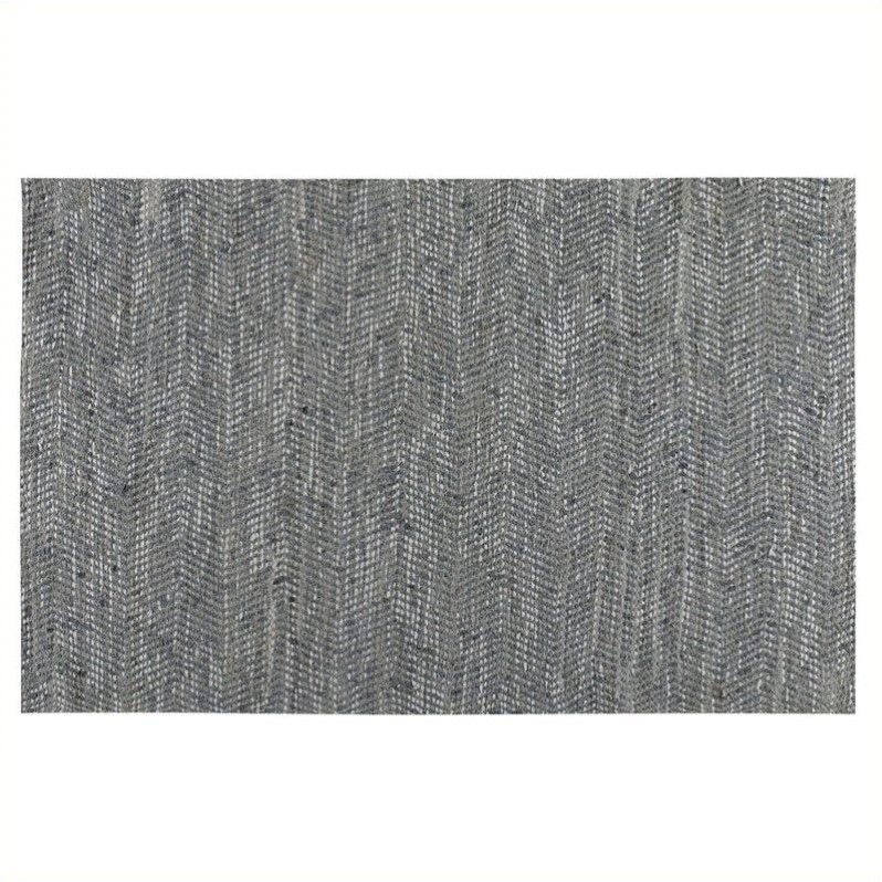 Uttermost Branson Woven Recycled Denim Rug in Gray Blue