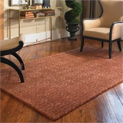 Uttermost Cambridge Wool Rug in Cinnamon Red and Gold - 5 ft X 8 ft
