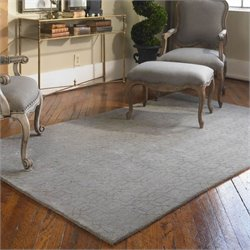Uttermost Cambridge Wool Rug in Warm Gray and Taupe - 5 ft X 8 ft