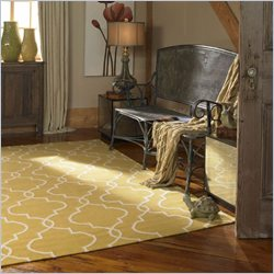 Uttermost Devonshire Wool Rug in Gold and Off White - 5 ft X 8 ft