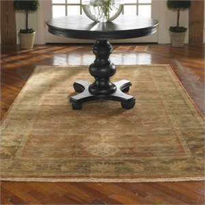 Uttermost Eleonora New Zealand Wool Rug in Rust Red and Olive Green