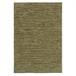 Jessore Jute Rug in Washed Green and Brown