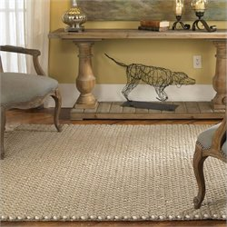 Uttermost Juntura Wool Rug in Beige and Off-White - 5 ft X 8 ft