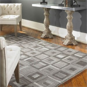 Uttermost Matrice Wool Rug in Gray