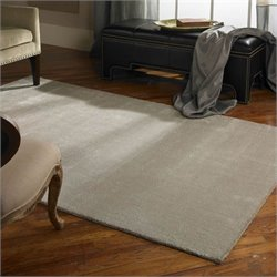 Uttermost Rhine Wool Rug in Silver Gray - 5 ft X 8 ft