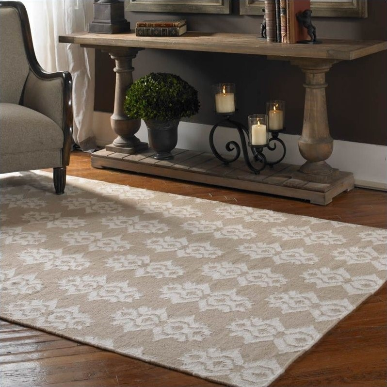 Saint George Wool Rug in Beige and Off White
