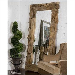 Uttermost Mirror in Natural Unfinished Teak Root