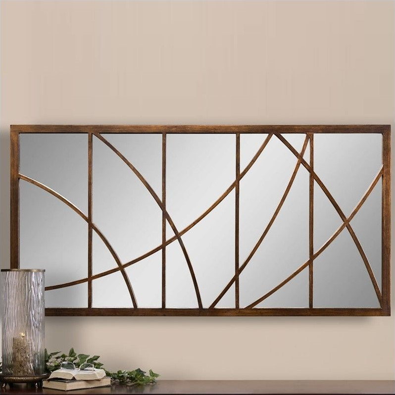 Uttermost Loudon Large Mirror in Distressed Bronze