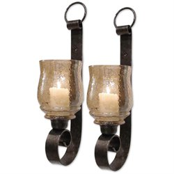 Uttermost Joselyn Antique Bronze Metall Small Wall Sconces (Set of 2)