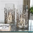 Uttermost Corbis Hand Forged Metal Candleholders in Silver (Set of 2)