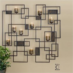 Uttermost Siam Metal Candlelight Wall Sculpture in Rust Brown