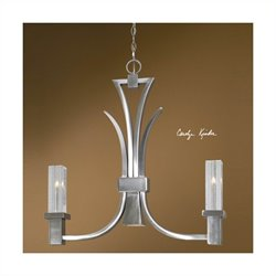 Glacio 2 Lights Nickel Plated Kitchen Island Fixture