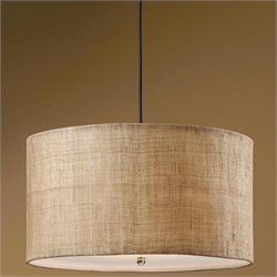 Uttermost Dafina 3 Light Antiqued Burlap Weave Drum Pendant