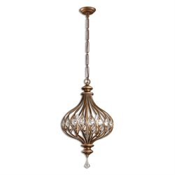 Uttermost Sabina 3 Light Pendant in Gold