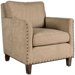 Uttermost Keturah Chenille Armchair in Sun Washed Pecan