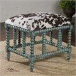 Chahna Upholstered Small Bench in Aqua Blue