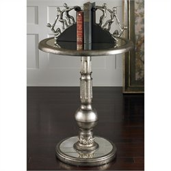 Uttermost Baina Accent Table in Burnished Silver
